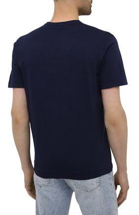 Мужская хлопковая футболка ASPESI темно-синего цвета, арт. S1 A 3107 C089 | Фото 4 (Принт: Без принта; Рукава: Короткие; Длина (для топов): Стандартные; Материал внешний: Хлопок; Стили: Кэжуэл)