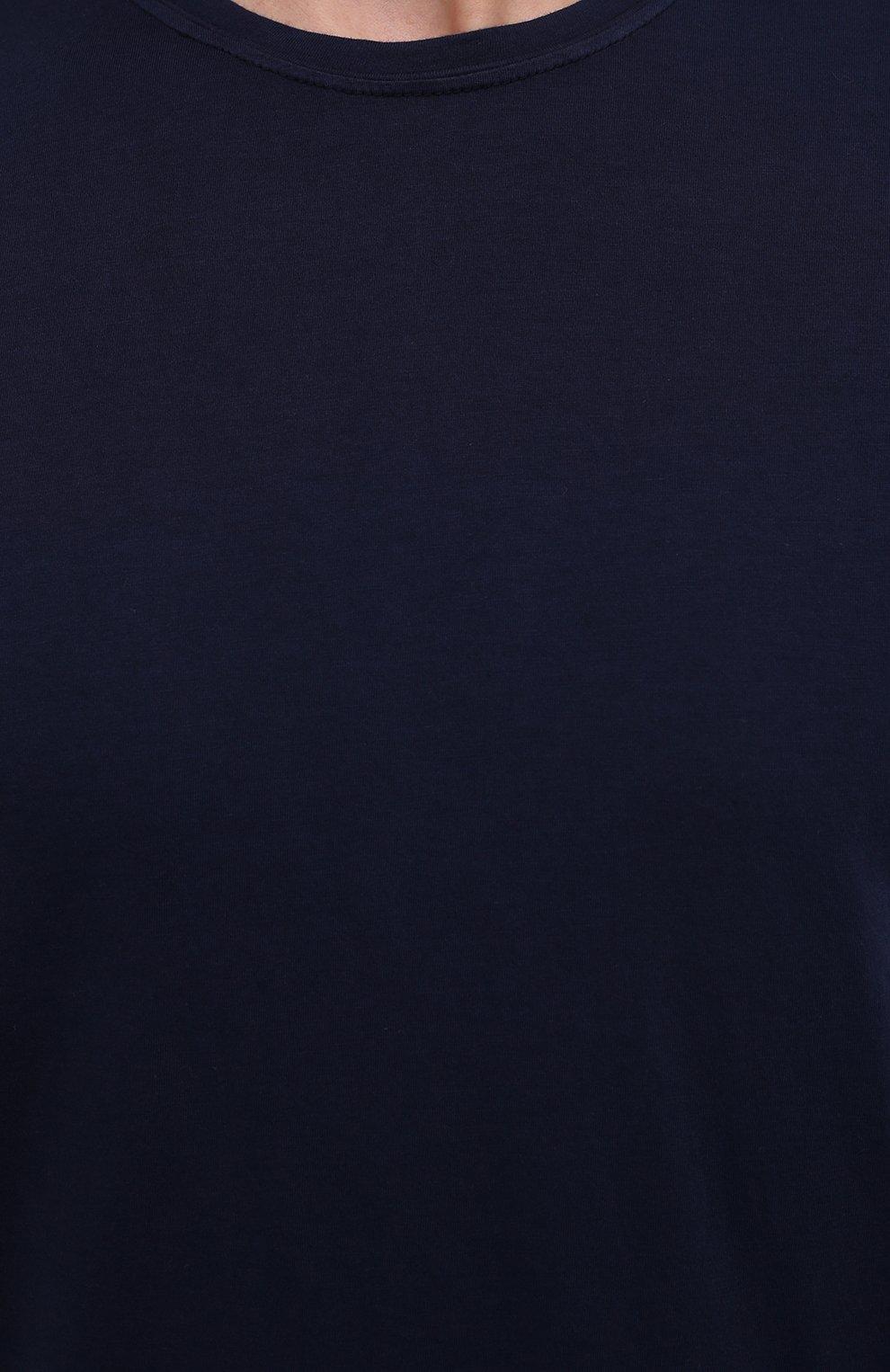 Мужская хлопковая футболка ASPESI темно-синего цвета, арт. S1 A 3107 C089 | Фото 5 (Принт: Без принта; Рукава: Короткие; Длина (для топов): Стандартные; Материал внешний: Хлопок; Стили: Кэжуэл)
