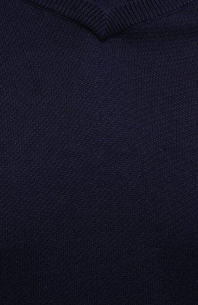 Мужской джемпер из шелка и кашемира ASPESI темно-синего цвета, арт. S1 Q M386 5653 | Фото 5 (Мужское Кросс-КТ: Джемперы; Материал внешний: Шелк; Рукава: Длинные; Принт: Без принта; Длина (для топов): Стандартные; Вырез: Круглый; Стили: Кэжуэл)