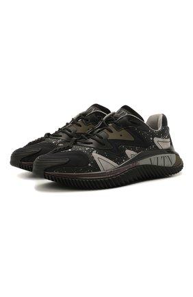 Мужские комбинированные кроссовки wade runner VALENTINO черного цвета, арт. VY0S0D95/NVD | Фото 1 (Материал внутренний: Текстиль; Материал внешний: Текстиль; Стили: Гранж; Подошва: Массивная)