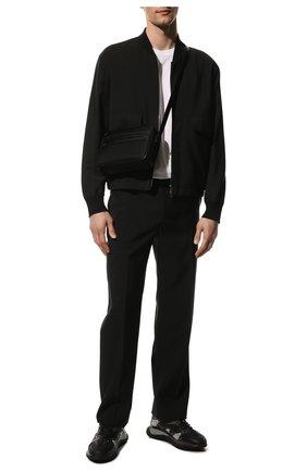 Мужские комбинированные кроссовки wade runner VALENTINO черного цвета, арт. VY0S0D95/NVD   Фото 2 (Материал внутренний: Текстиль; Материал внешний: Текстиль; Стили: Гранж; Подошва: Массивная)
