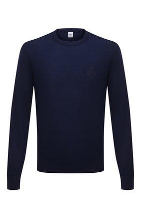 Мужской шерстяной джемпер BERLUTI синего цвета, арт. R20KRL180-001   Фото 1