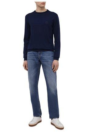 Мужской шерстяной джемпер BERLUTI синего цвета, арт. R20KRL180-001   Фото 2