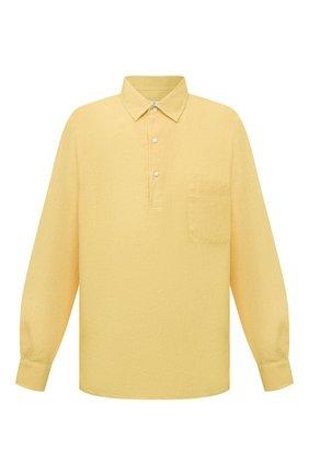Мужская льняная рубашка LORO PIANA желтого цвета, арт. FAL6150 | Фото 1