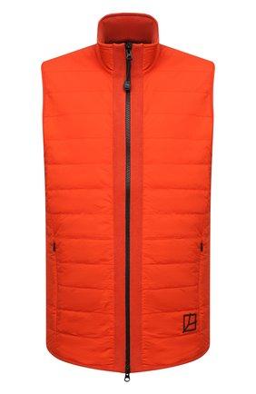 Мужской комбинированный жилет GRAN SASSO оранжевого цвета, арт. 57142/31504 | Фото 1