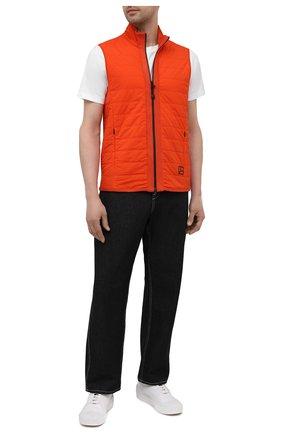 Мужской комбинированный жилет GRAN SASSO оранжевого цвета, арт. 57142/31504 | Фото 2