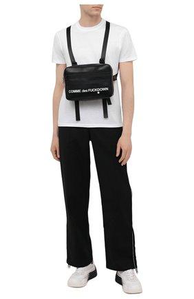 Мужская нагрудная сумка COMME DES FUCKDOWN черного цвета, арт. CDFA528   Фото 2