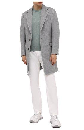 Мужской пальто из шерсти и кашемира BRUNELLO CUCINELLI серого цвета, арт. MQ4499039 | Фото 2