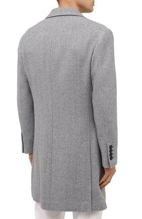 Мужской пальто из шерсти и кашемира BRUNELLO CUCINELLI серого цвета, арт. MQ4499039 | Фото 4