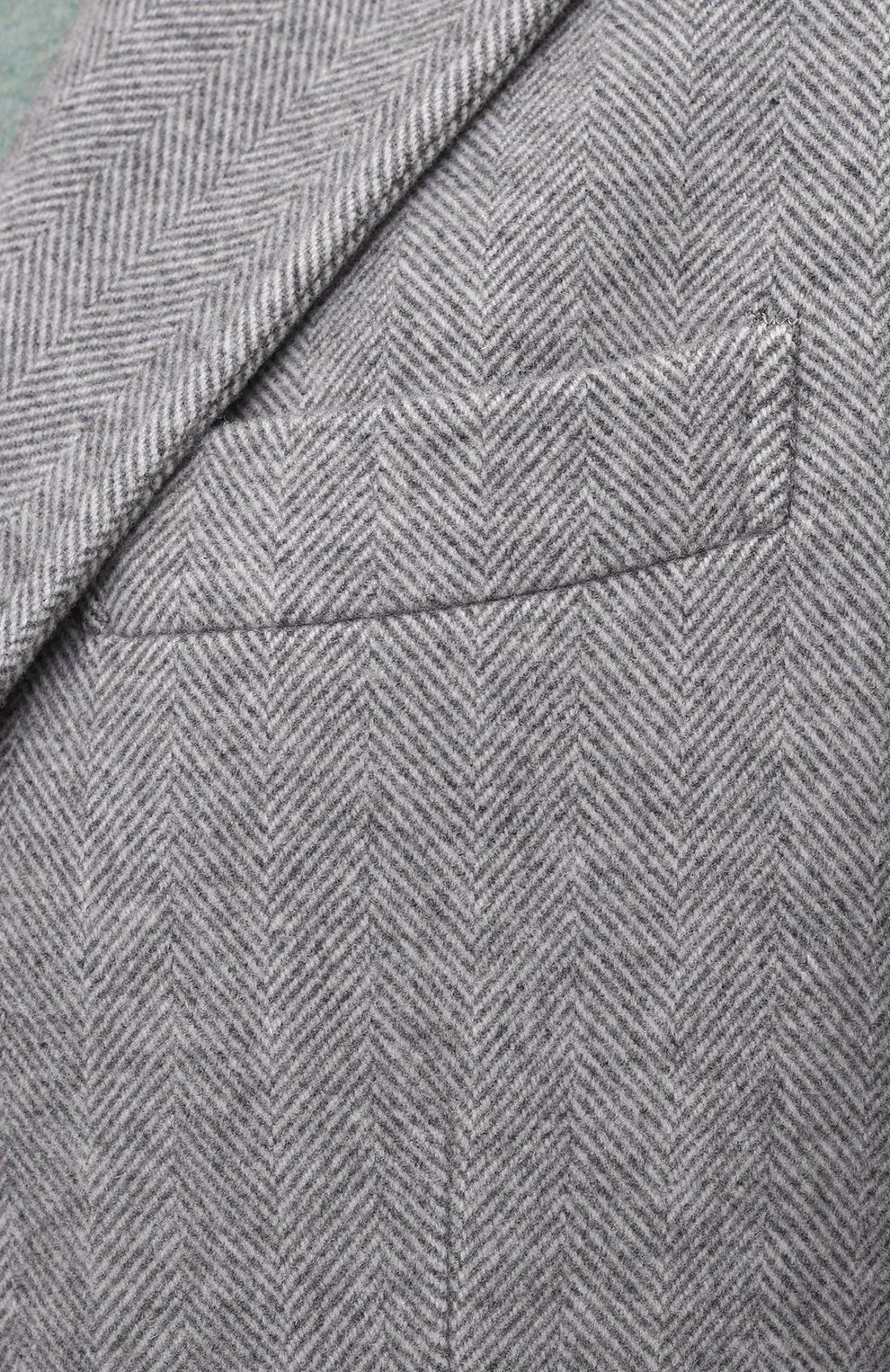 Мужской пальто из шерсти и кашемира BRUNELLO CUCINELLI серого цвета, арт. MQ4499039 | Фото 5
