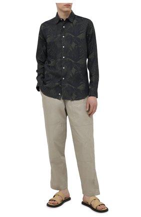 Мужская хлопковая рубашка CANALI темно-зеленого цвета, арт. L7C4/GY02145   Фото 2