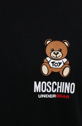 Мужская хлопковая футболка MOSCHINO черного цвета, арт. A1923/8125   Фото 5 (Кросс-КТ: домашняя одежда; Рукава: Короткие; Длина (для топов): Стандартные; Материал внешний: Хлопок; Мужское Кросс-КТ: Футболка-белье)