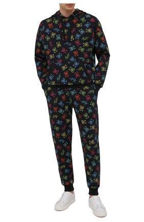 Мужские хлопковые джоггеры MOSCHINO разноцветного цвета, арт. A4308/8109 | Фото 2