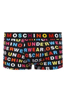 Мужские хлопковые боксеры MOSCHINO разноцветного цвета, арт. A4709/8107 | Фото 1 (Мужское Кросс-КТ: Трусы; Кросс-КТ: бельё; Материал внешний: Хлопок)