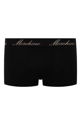 Мужские хлопковые боксеры MOSCHINO черного цвета, арт. A4762/8101 | Фото 1 (Кросс-КТ: бельё; Мужское Кросс-КТ: Трусы; Материал внешний: Хлопок)