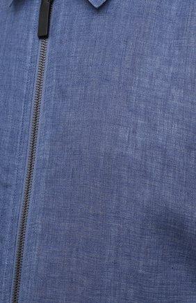 Мужской льняной бомбер BRIONI синего цвета, арт. SLQW0L/P9111   Фото 5