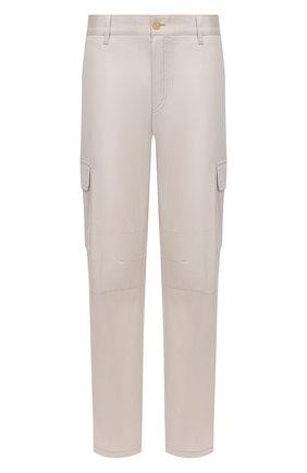 Мужские хлопковые брюки-карго BRIONI кремвого цвета, арт. RPAB0L/P0009/RANGIR0A | Фото 1