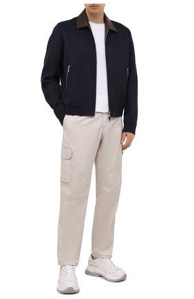 Мужские хлопковые брюки-карго BRIONI кремвого цвета, арт. RPAB0L/P0009/RANGIR0A | Фото 2