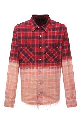Мужская хлопковая рубашка AMIRI красного цвета, арт. MSL005-610   Фото 1