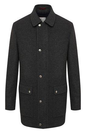 Мужской комплект из пальто и жилета BRUNELLO CUCINELLI серого цвета, арт. MT4976445 | Фото 1