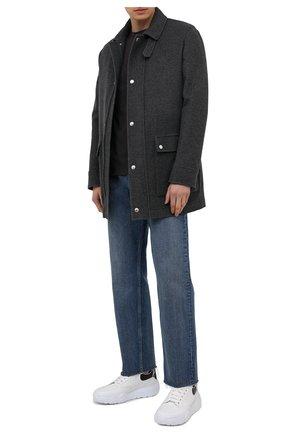 Мужской комплект из пальто и жилета BRUNELLO CUCINELLI серого цвета, арт. MT4976445 | Фото 2
