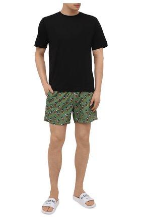 Мужские плавки-шорты MC2 SAINT BARTH зеленого цвета, арт. STBM LIGHTING MICR0 FANTASY/LIG0003 | Фото 2
