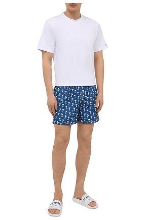 Мужские плавки-шорты MC2 SAINT BARTH темно-синего цвета, арт. STBM LIGHTING MICR0 FANTASY/LIG0003 | Фото 2