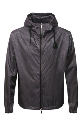 Мужская куртка BERLUTI серого цвета, арт. R200BU80-001   Фото 1 (Материал внешний: Синтетический материал; Кросс-КТ: Ветровка, Куртка; Рукава: Длинные; Длина (верхняя одежда): Короткие; Стили: Кэжуэл; Материал подклада: Синтетический материал)