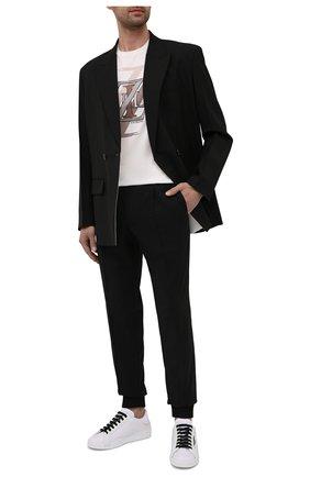 Мужские шерстяные джоггеры BERLUTI черного цвета, арт. R20TCU67-001 | Фото 2