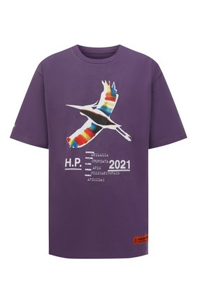 Мужская хлопковая футболка HERON PRESTON фиолетового цвета, арт. HMAA026S21JER0023501 | Фото 1