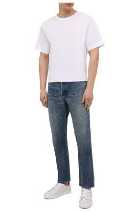 Мужские джинсы AMBUSH темно-синего цвета, арт. BMYA002S21DEN001 | Фото 2