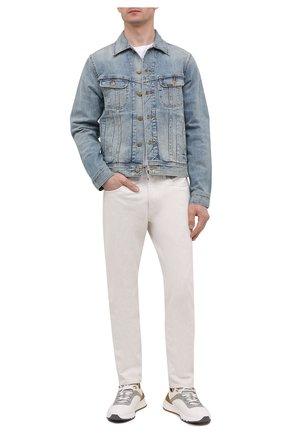 Мужская джинсовая куртка POLO RALPH LAUREN синего цвета, арт. 710830859 | Фото 2