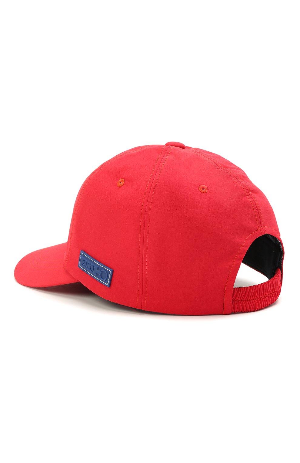 Мужской бейсболка ZILLI красного цвета, арт. MHV-CAP12-UNIC0/0001 | Фото 2 (Материал: Текстиль)