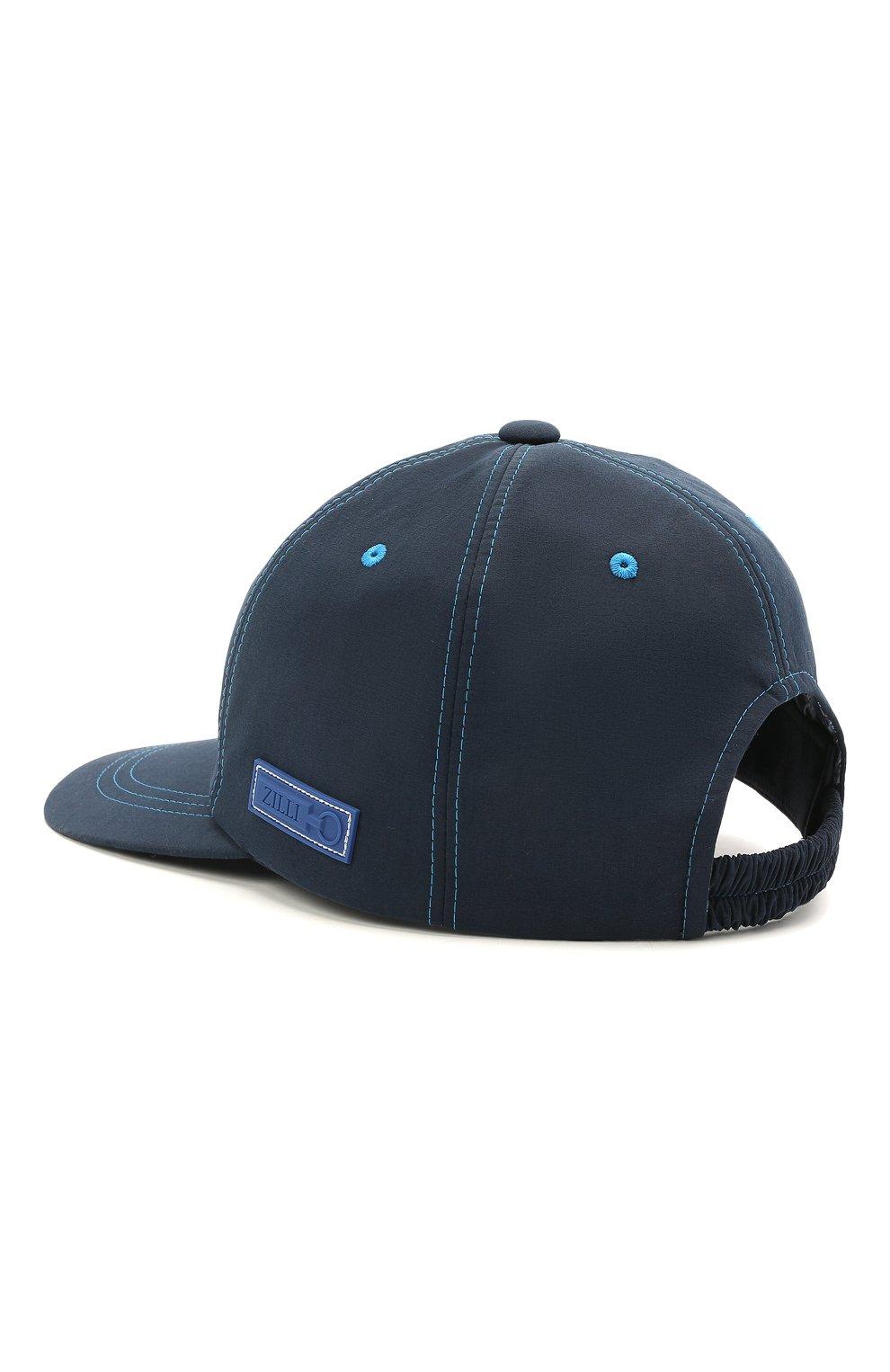 Мужской бейсболка ZILLI синего цвета, арт. MHV-CAP12-UNIC0/0001 | Фото 2 (Материал: Текстиль)