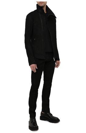 Мужские кожаные брюки ISAAC SELLAM черного цвета, арт. S0USMARIN-STRETCH H22   Фото 2