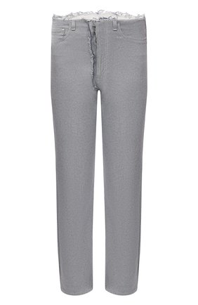 Мужские джинсы MAISON MARGIELA светло-голубого цвета, арт. S30LA0178/S30754   Фото 1 (Материал внешний: Хлопок; Длина (брюки, джинсы): Стандартные; Стили: Минимализм; Кросс-КТ: Деним; Силуэт М (брюки): Прямые)