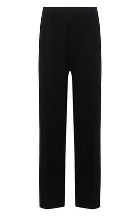 Мужские льняные брюки MAISON MARGIELA черного цвета, арт. S30KA0604/S53702   Фото 1