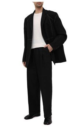 Мужские льняные брюки MAISON MARGIELA черного цвета, арт. S30KA0604/S53702   Фото 2