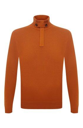Мужской кашемировый свитер LORO PIANA оранжевого цвета, арт. FAL5980 | Фото 1