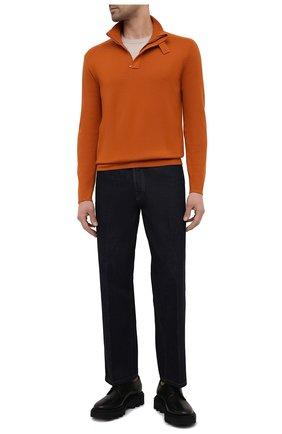 Мужской кашемировый свитер LORO PIANA оранжевого цвета, арт. FAL5980 | Фото 2