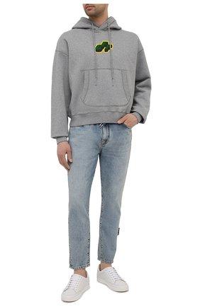 Мужские джинсы OFF-WHITE синего цвета, арт. 0MYA005S21DEN004 | Фото 2
