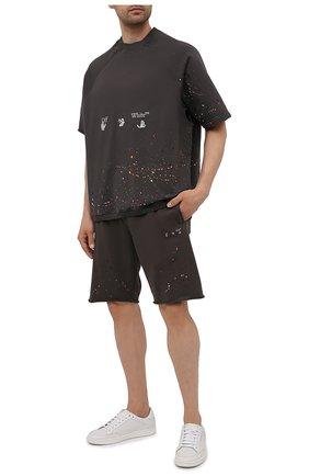 Мужской хлопковый свитшот OFF-WHITE темно-серого цвета, арт. 0MBA050S21FLE002 | Фото 2