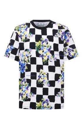 Мужская хлопковая футболка OFF-WHITE разноцветного цвета, арт. 0MAA038S21JER017 | Фото 1