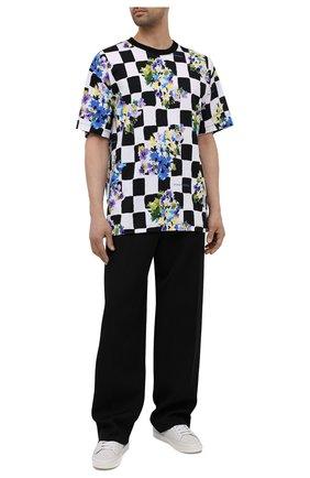 Мужская хлопковая футболка OFF-WHITE разноцветного цвета, арт. 0MAA038S21JER017 | Фото 2