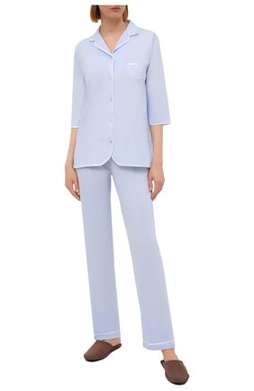 Женская хлопковая пижама LE CHAT светло-голубого цвета, арт. ESSENTIELE06A | Фото 1