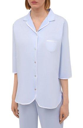 Женская хлопковая пижама LE CHAT светло-голубого цвета, арт. ESSENTIELE06A | Фото 2