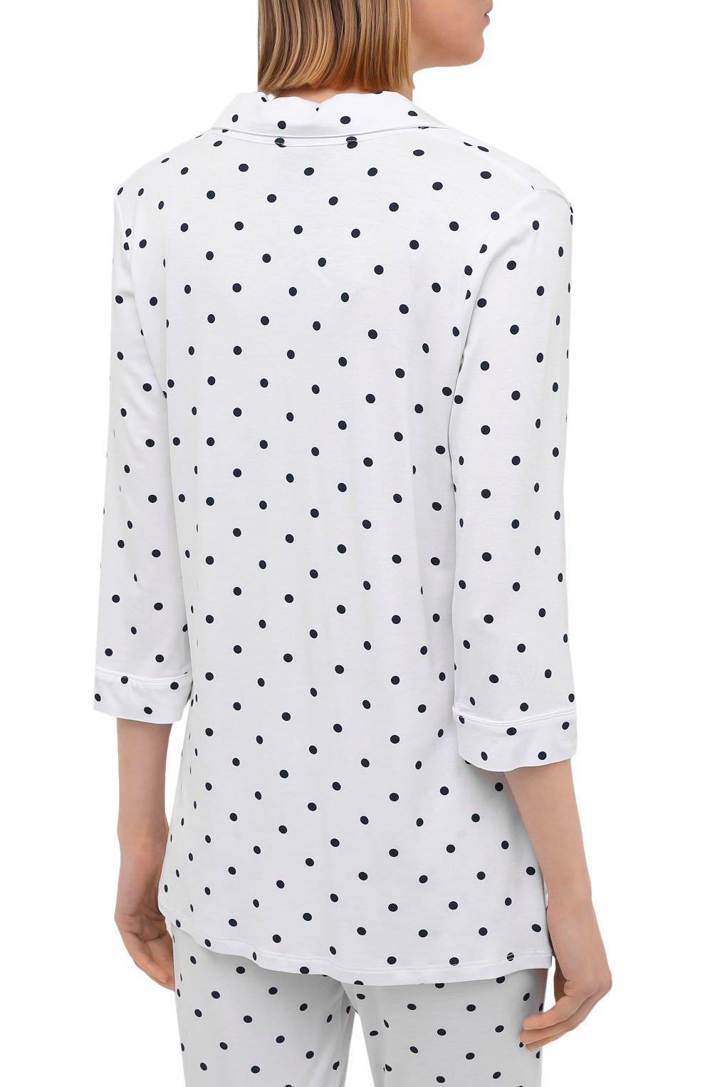 Женская пижама из вискозы LE CHAT белого цвета, арт. BELLAGIO106 | Фото 3 (Длина Ж (юбки, платья, шорты): Мини; Длина (брюки, джинсы): Стандартные; Длина (для топов): Стандартные; Материал внешний: Вискоза; Рукава: 3/4)
