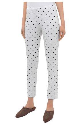 Женская пижама из вискозы LE CHAT белого цвета, арт. BELLAGIO106 | Фото 4 (Длина Ж (юбки, платья, шорты): Мини; Длина (брюки, джинсы): Стандартные; Длина (для топов): Стандартные; Материал внешний: Вискоза; Рукава: 3/4)