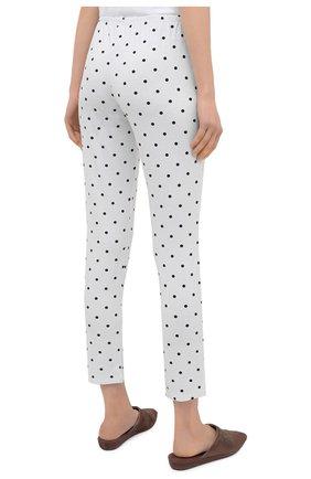 Женская пижама из вискозы LE CHAT белого цвета, арт. BELLAGIO106 | Фото 5 (Длина Ж (юбки, платья, шорты): Мини; Длина (брюки, джинсы): Стандартные; Длина (для топов): Стандартные; Материал внешний: Вискоза; Рукава: 3/4)
