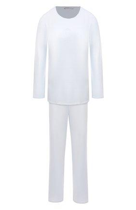 Женская хлопковая пижама LOUISFERAUD светло-голубого цвета, арт. 3883013   Фото 1